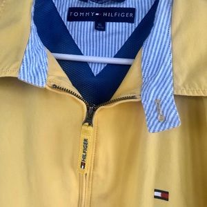 Tommy Hilfiger Men's Yellow Cotton Lined Jacket XL